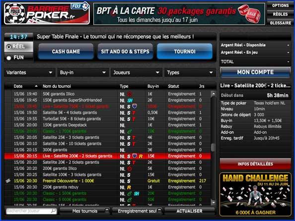 Lobby de la salle barriere poker